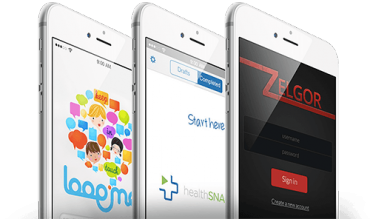 Example of mobile applications developed by ASSIST Software's team