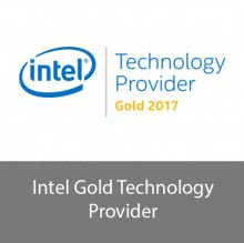 Intel Technology Provider Gold Certified Partner logo