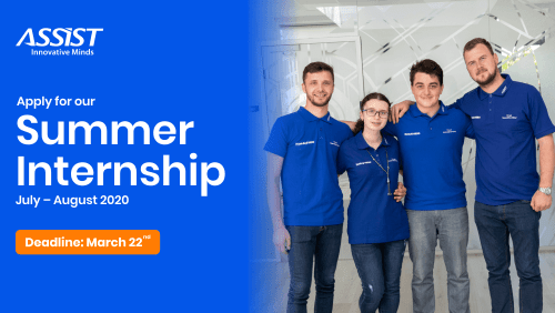 ASSIST Summer Internship Program 2020 - ASSIST Software - promoted picture