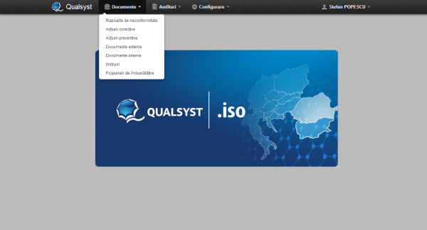 Qualsyst Navigation bar