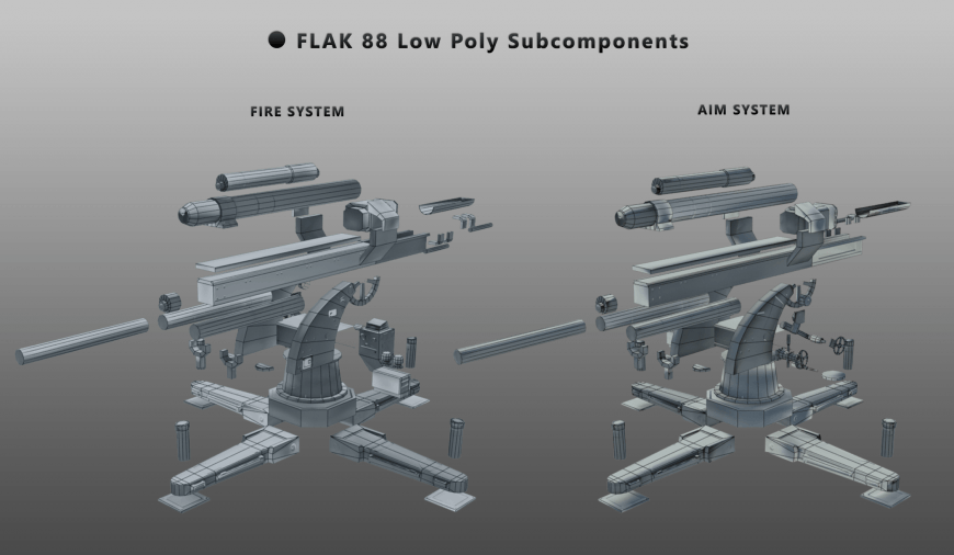 Low poly Subcomponents