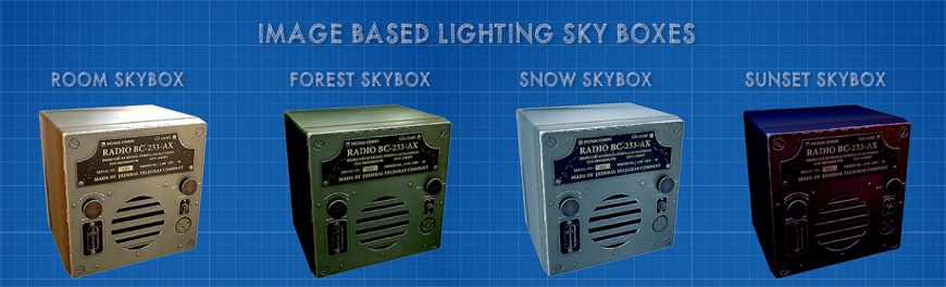 Ibl system with different skyboxes