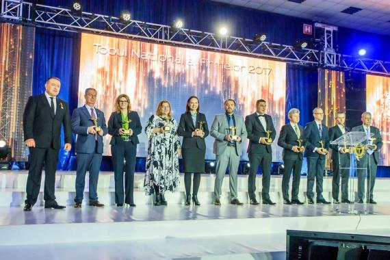 The podium of R&D and High-Tech National Top of Romanian Companies 2017 where ASSIST Software ASSIST Software won the first prize