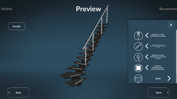 Sogem Stair Configuration Preview ASSIST-Software-Romania