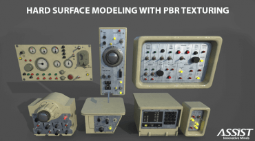Hard-surface-modeling-with-PBR-texturing-final-3D-model-ASSIST-Software